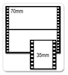 Diferença entre um filme em 35mm e um filme em 70 mm