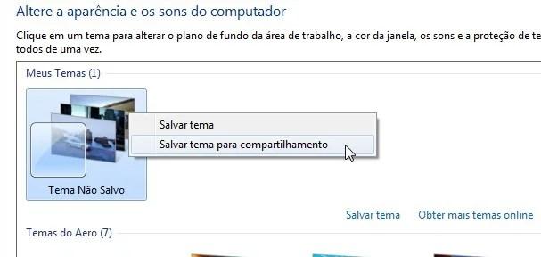 Salve o tema no computador para poder instalar em outros computadores.