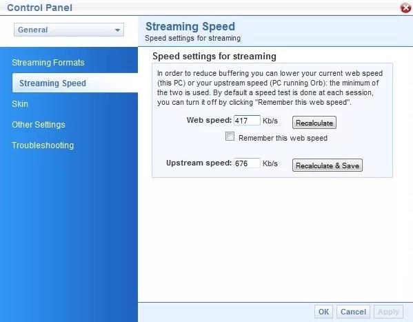 Configurar velocidades