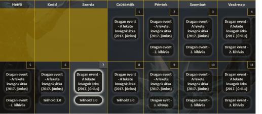 drakensang event naptár Event Calendar | Bajkó Tamás – Drakensang drakensang event naptár