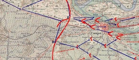 La batalla de la ciudad de Caspe