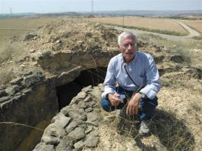 Ofer en las trincheras de la Plana del Pilón