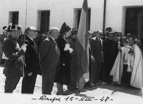 Inauguración (y bendición) del Cuartel, 15-8-1948