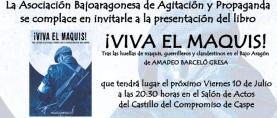 Presentación del libro ¡Viva el maquis!