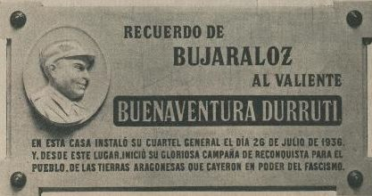Tras los pasos de Durruti en Bujaraloz