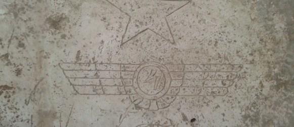 Caspe desconocido y oculto: hallado un emblema de la FARE en el Vado