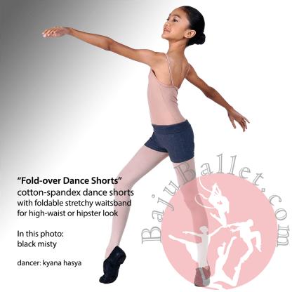 Dance Short Fold Over Black Misty
