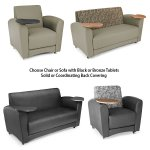 Interplay Series Lounge Chair & Sofa with Tablet Arms 821, 822