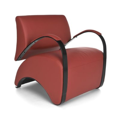 Recoil Lounge Chair 841 Red AntiMicrobial