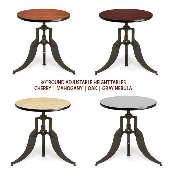 Round Adjustable Height Dining Table 30 Quot 36 Quot Amp 42 Quot Tops
