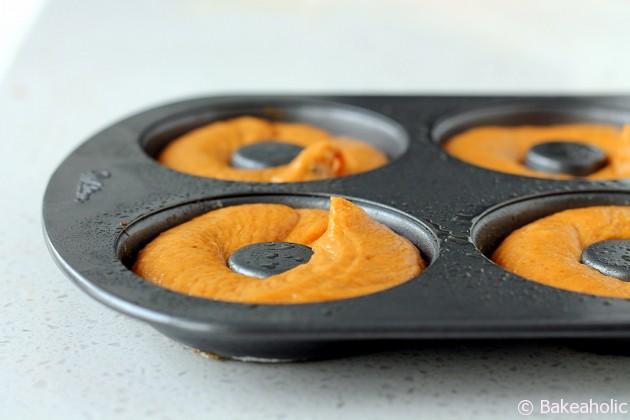 pumpkin donut before