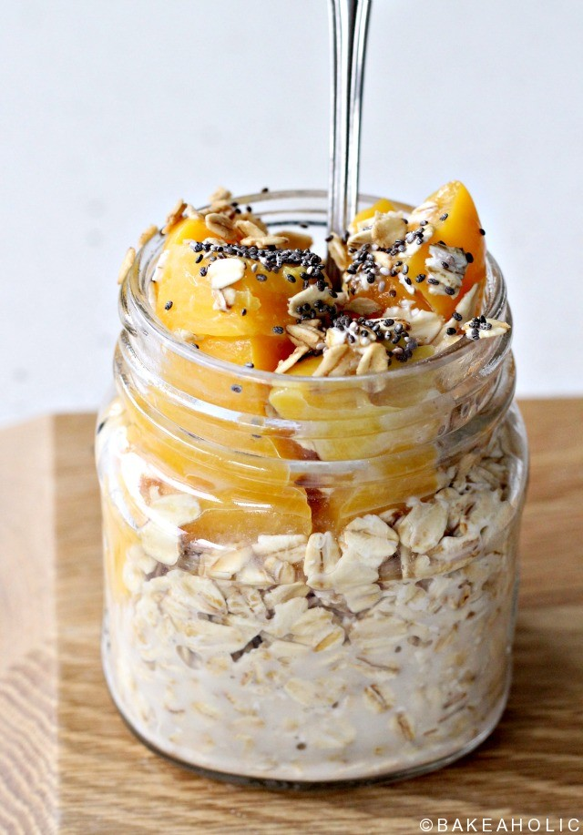 peachy overnight oats