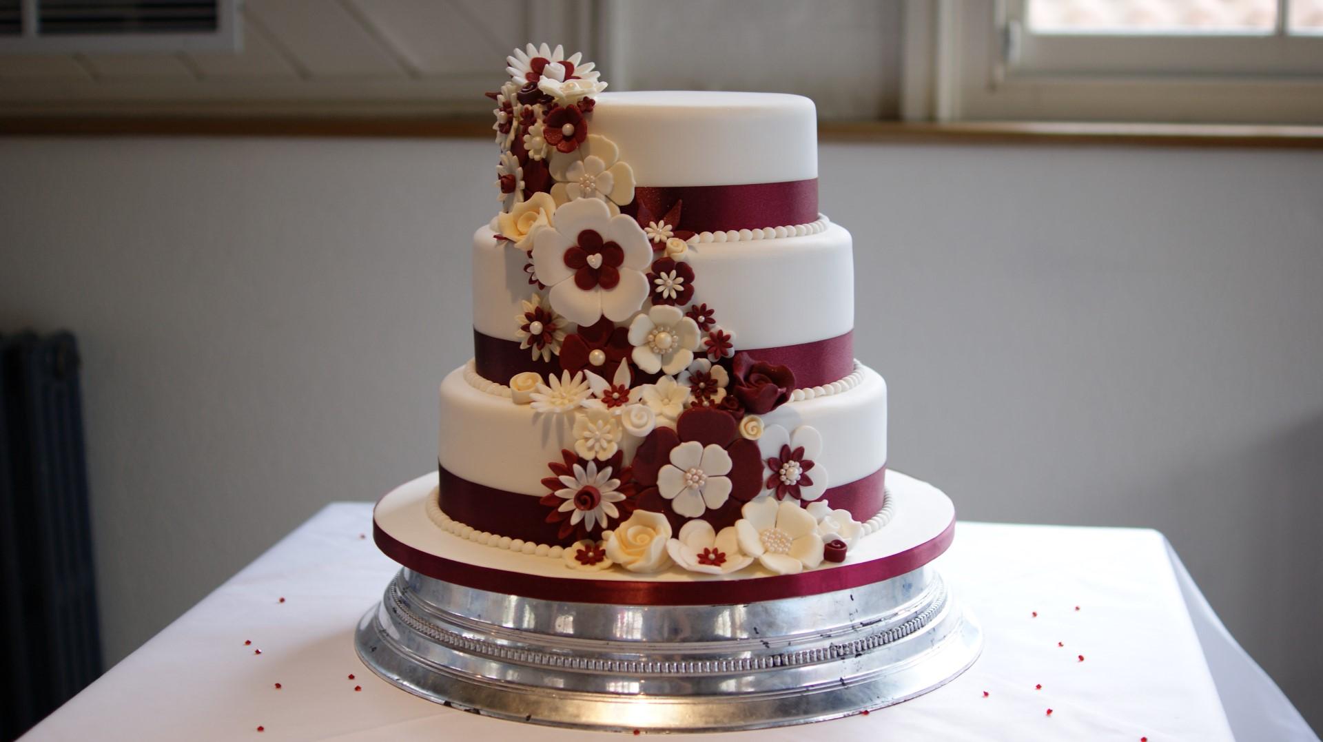 Disney Theme 3 Tier Wedding Cake