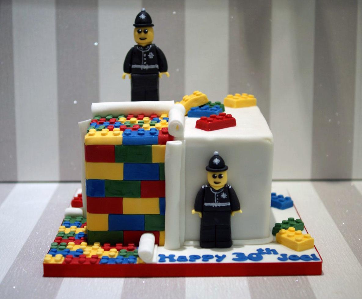 Lego Police 30th Birthday Cake