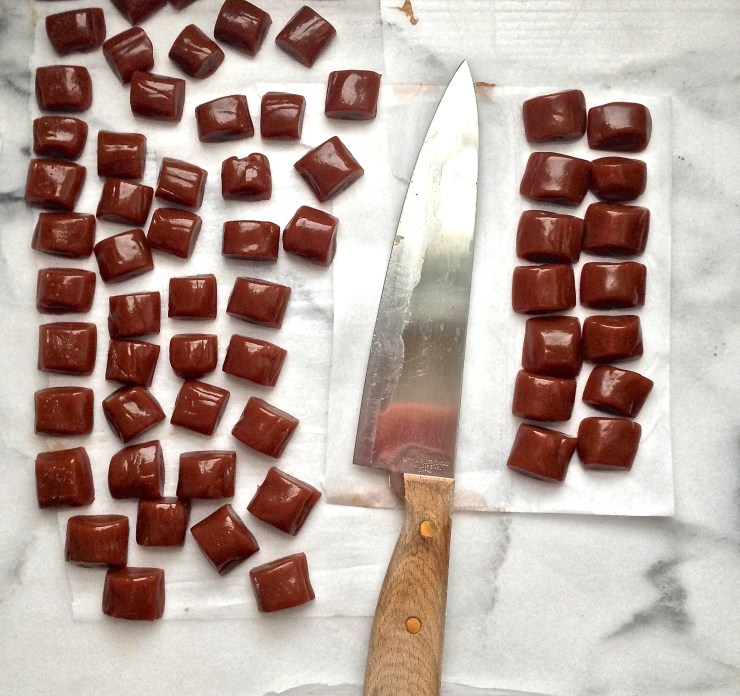salted caramels, undipped