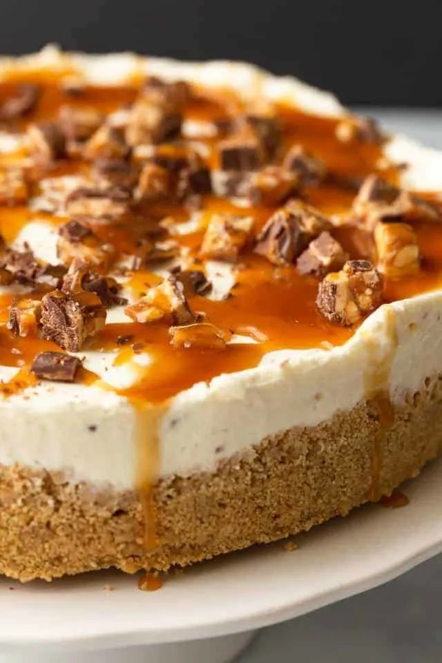 No Bake Snickers Cheesecake Baked By An Introvert 174