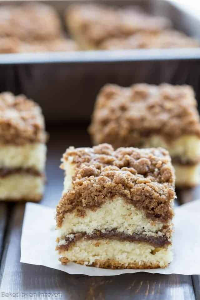 Cinnamon Crumb Coffee Cake Recipe | Baked by an Introvert