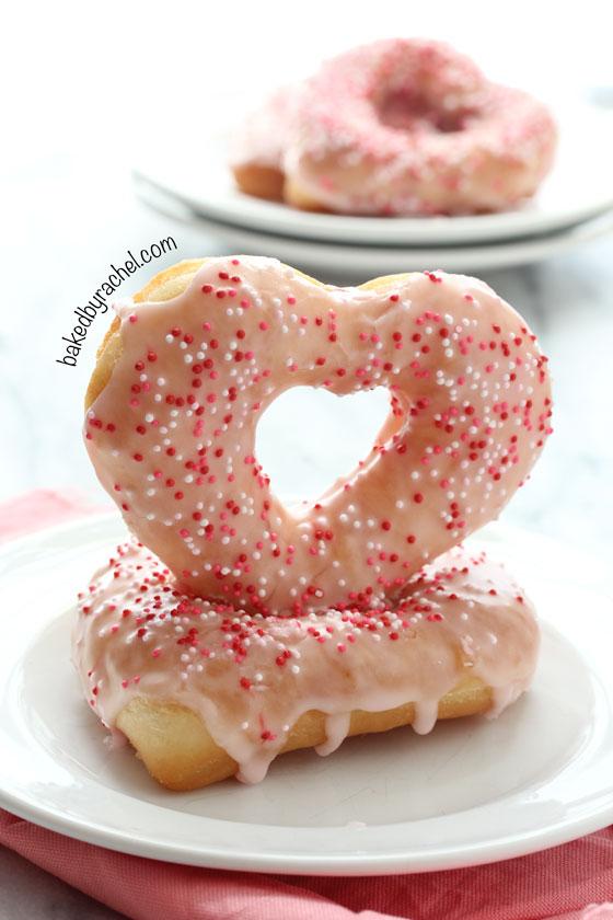 Strawberry Glazed Valentine Donuts Baked By Rachel
