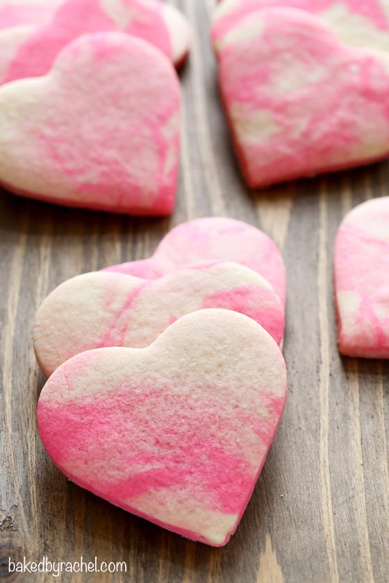 Marbled Valentine Sugar Cookies Baked By Rachel