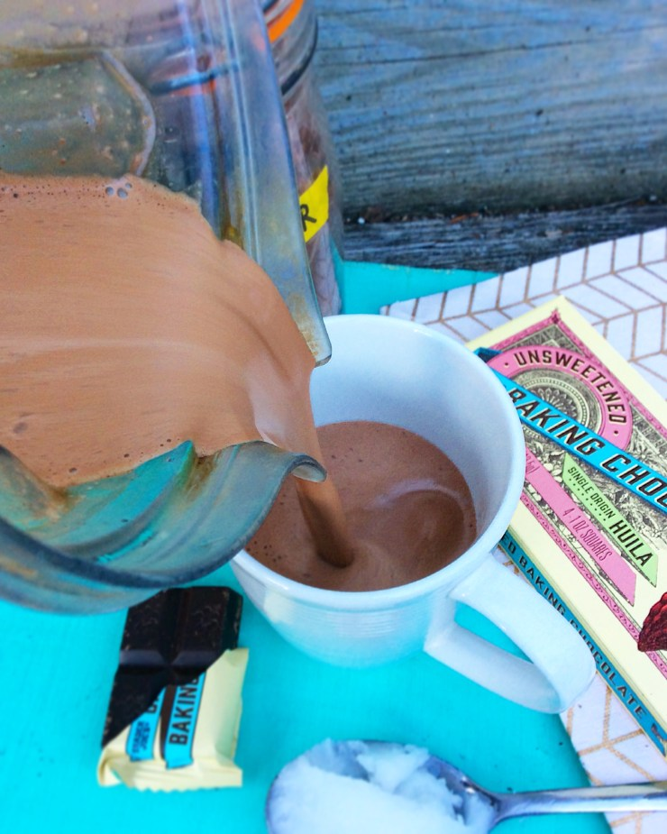 Coconut Oil Hot Chocolate