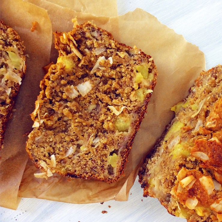 Pineapple & Coconut Banana Bread