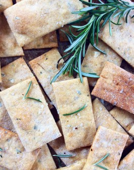 Rosemary & Olive Oil Crackers