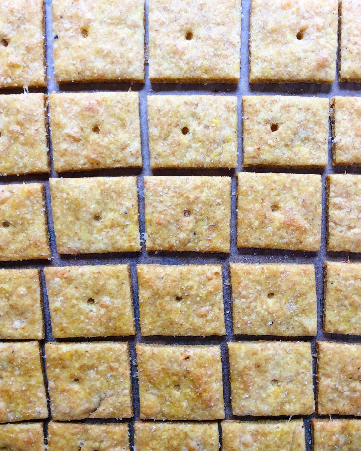 Whole Wheat Cheddar Crackers