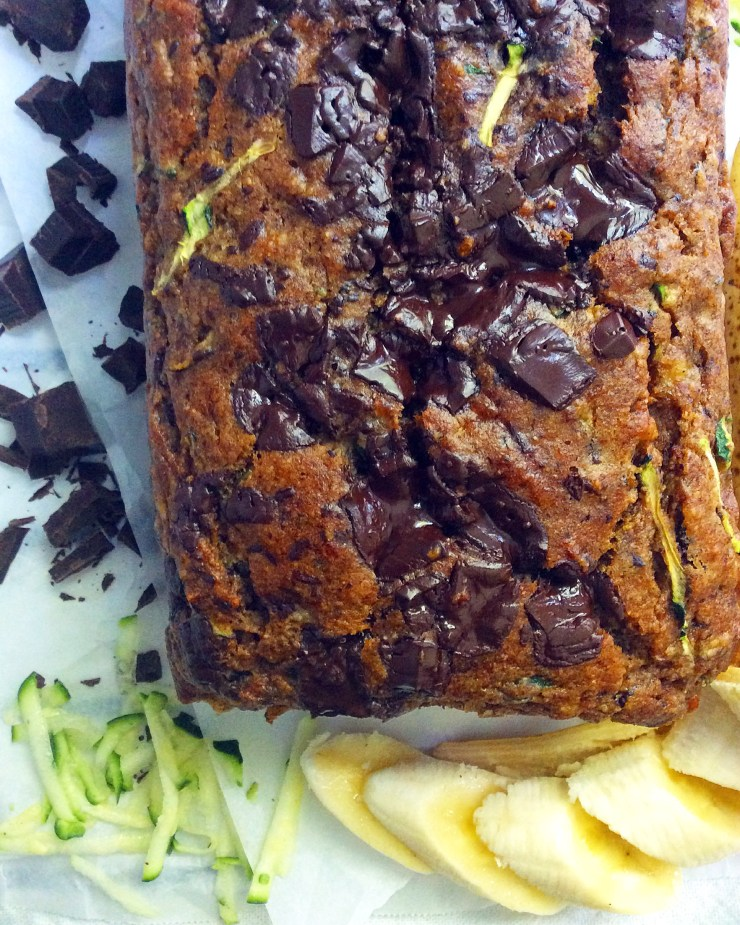 Chocolate Chunk Zucchini Banana Bread