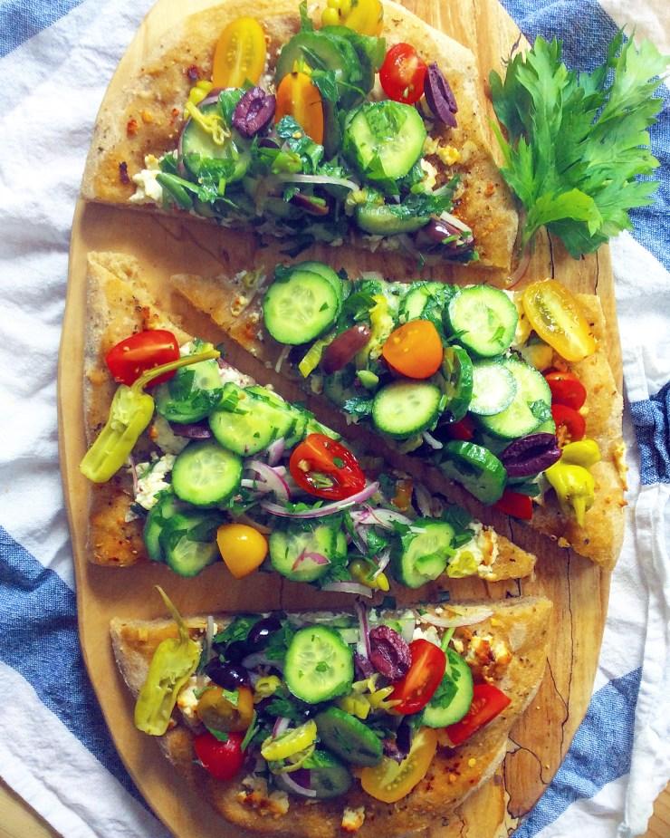 Greek Salad Flatbread