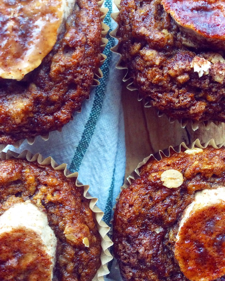 Whole Grain Banana Spice Muffins