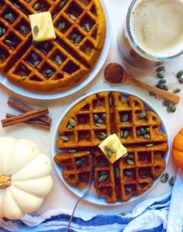 Fluffy Whole Wheat Pumpkin Waffles