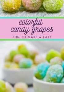 Have some rainbow fun with your kids and make these colorful candy grapes!