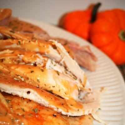Oven Roasted Turkey and Homemade Turkey Gravy