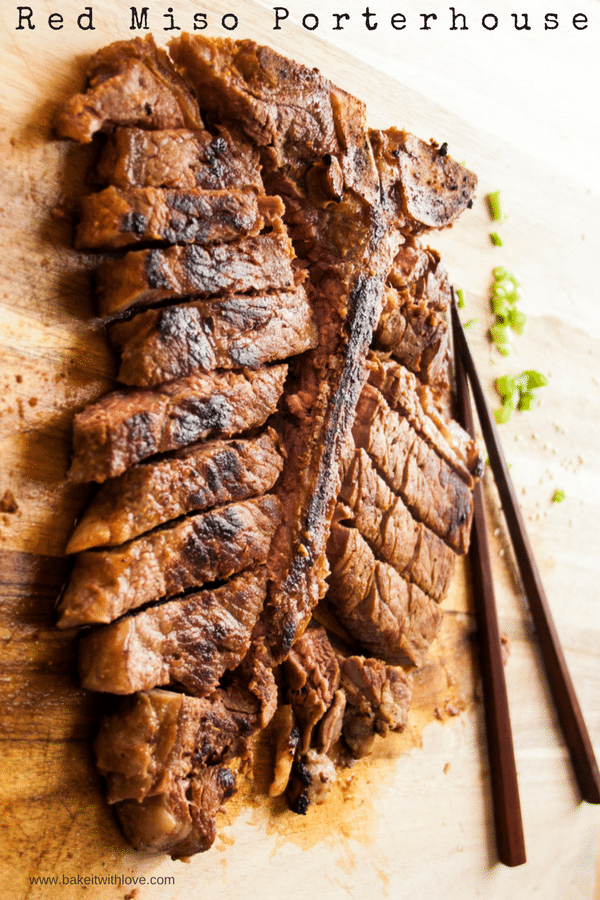Red Miso Porterhouse Steak at Bake It With Love, www.bakeitwithlove.com