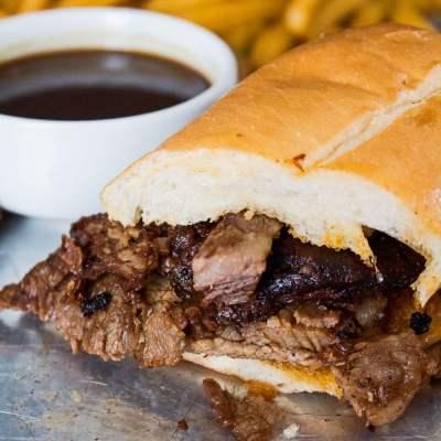 Leftover Prime Rib Dip Sandwich