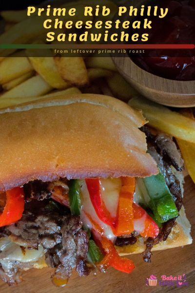 Leftover Prime Rib Philly Cheesesteak Sandwich is an amazing combination of prime rib roast, bell peppers, and melted cheese stacked into a sandwich roll