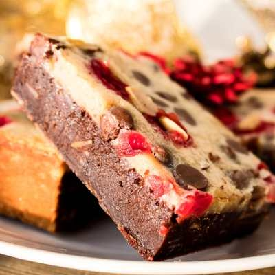 Chocolate Chip Maraschino Cherry Almond Bars