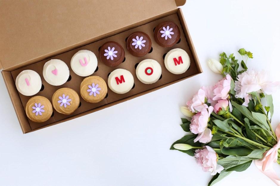 caja de cupcakes para las madres