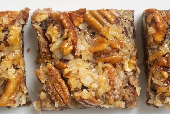 German Chocolate Pecan Pie Bars are a delicious chocolate twist on traditional pecan pie bars.