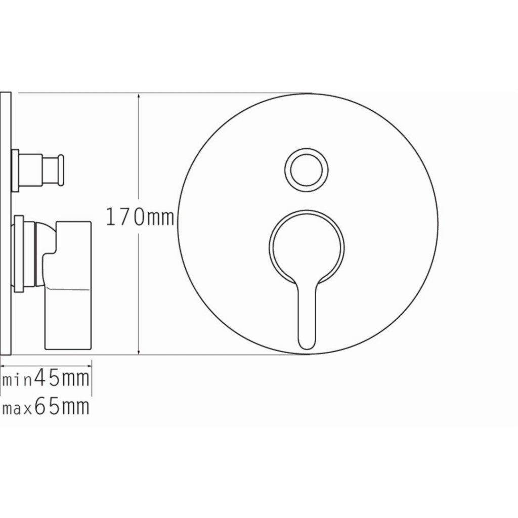 Tre Mercati Cabana Concealed Manual Shower Valve With Push Button Diverter