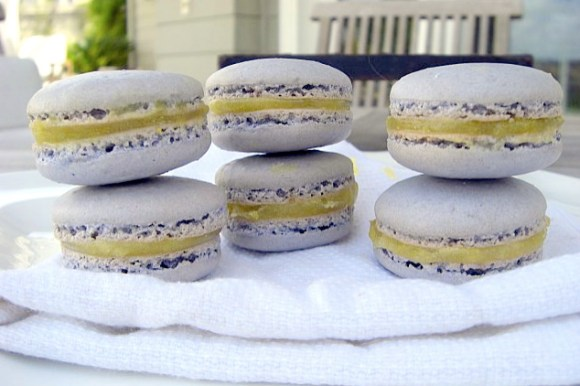 These tender Lavender Macarons with Lemon Curd are a delicious floral and citrus twist on the classic French cookie.