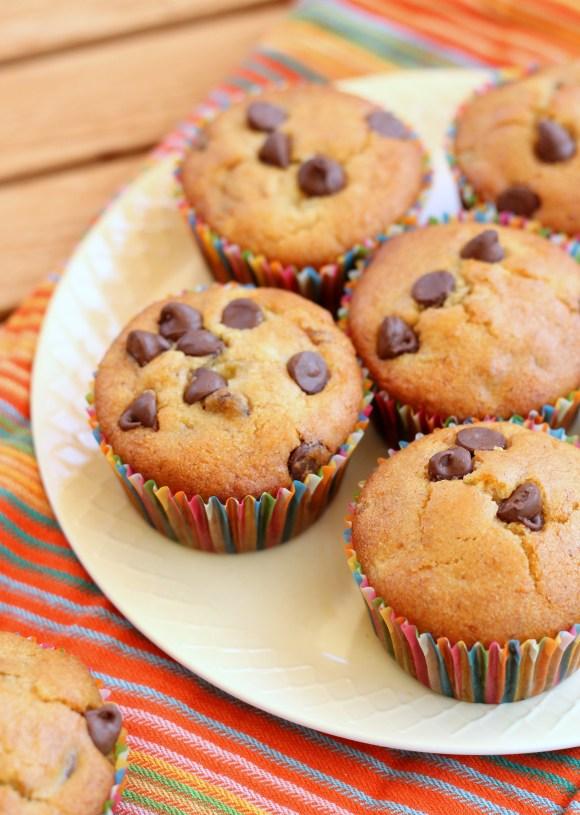 banana chocolate chip muffins gf vegan. Black Bedroom Furniture Sets. Home Design Ideas