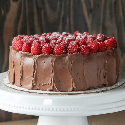 Mocha Raspberry Cake