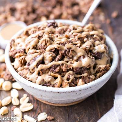 Chocolate Peanut Butter Granola (Gluten Free, Refined Sugar Free + Vegan)