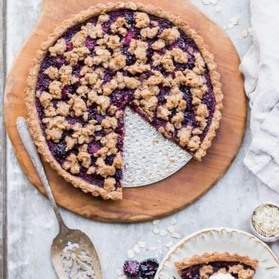 Blackberry Crisp Tart (Gluten Free + Vegan)