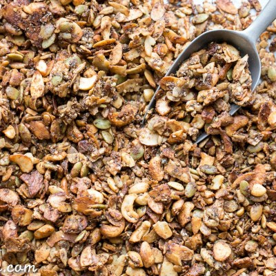 Banana Almond Butter Grain Free Granola