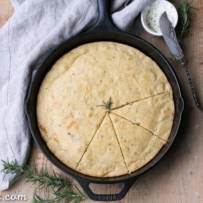 Gluten Free Asiago Rosemary Cornbread