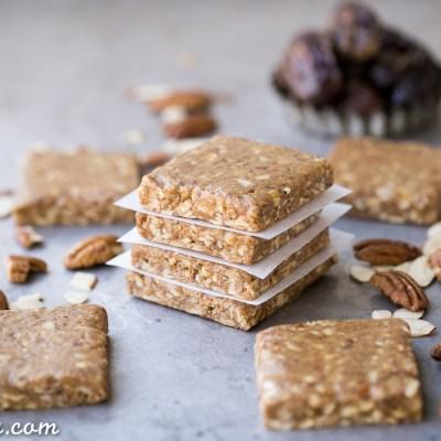 Pecan Pie Protein Bars (No-Bake, Gluten-Free + Paleo)