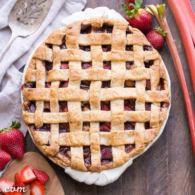 Paleo Strawberry Rhubarb Pie