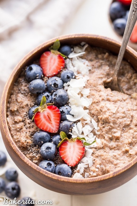 Quick grain free hot cereal gluten free paleo whole30 vegan not eating grains but missing your morning oatmeal look no further than this quick grain ccuart Images